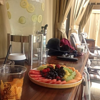 Fruit Platter And Infused Water Station With Cost Of Day Cabana Yelp
