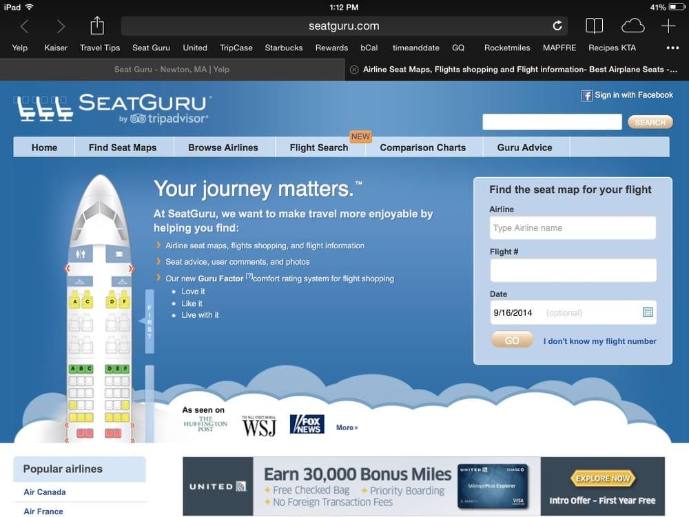 Seat Guru: Newton, MA