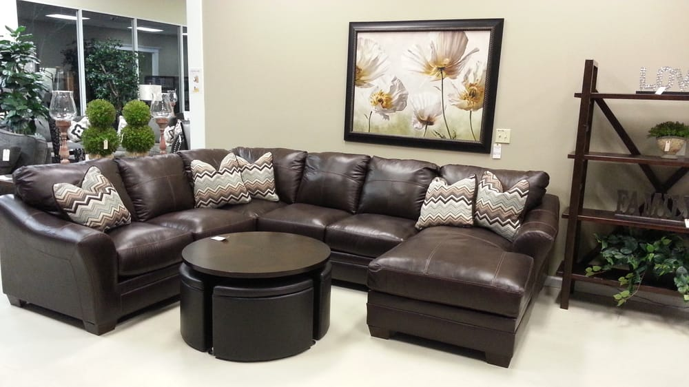 leather sectional casual relaxation yelp