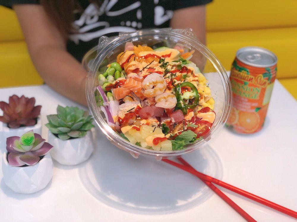 Food from Poke Sushi Bowl