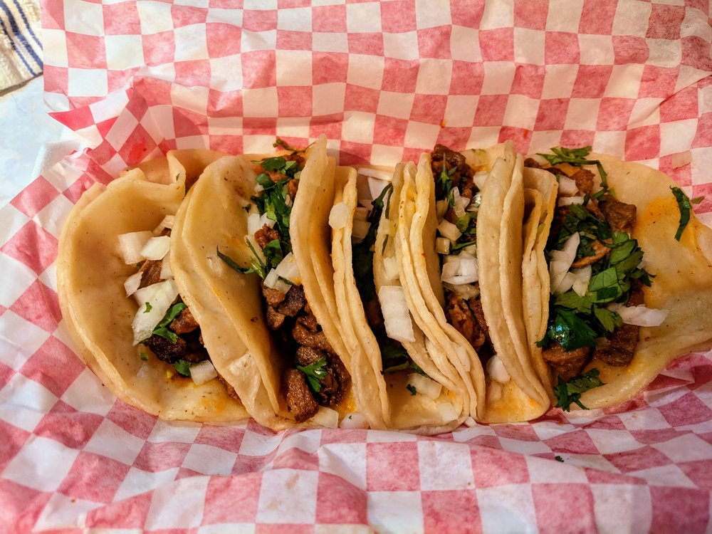 Food from Fatboy Tacos