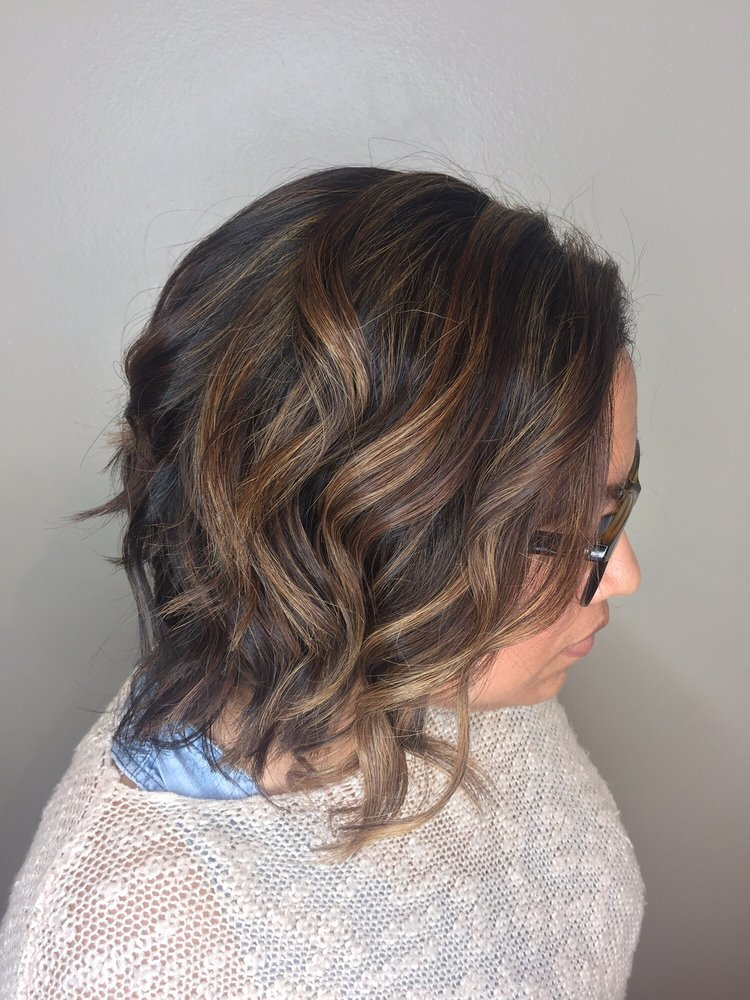Final Result Half Head Of Highlights Under The Balayage Yelp