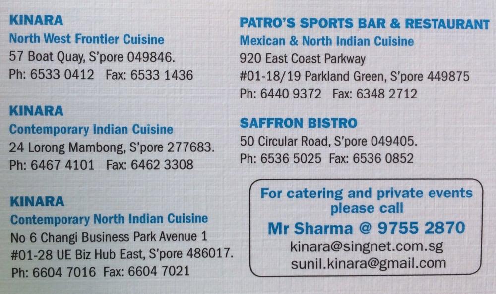 Kinara Contemporary Indian Cuisine Singapore