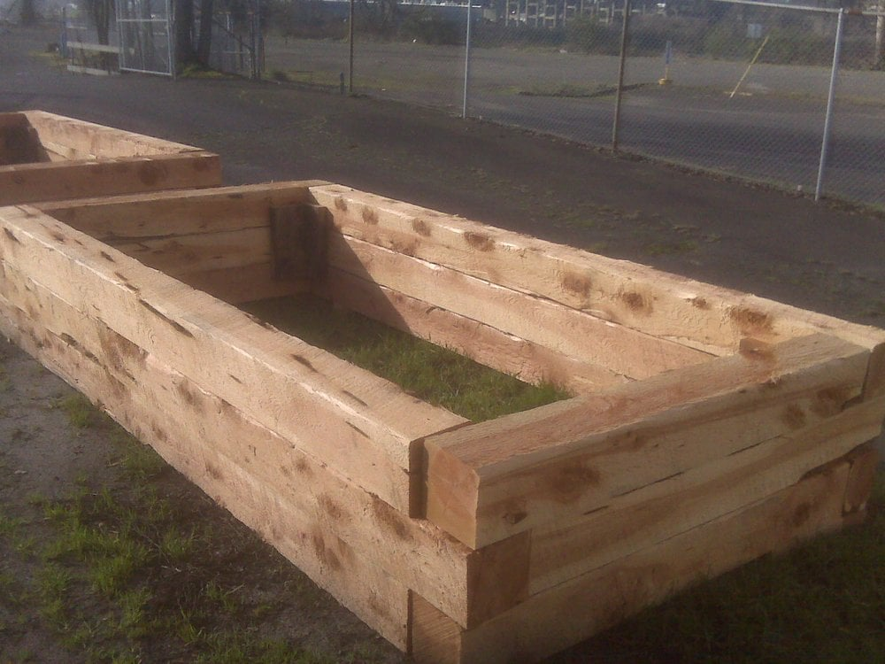 Juniper non treated landscape timbers available at this