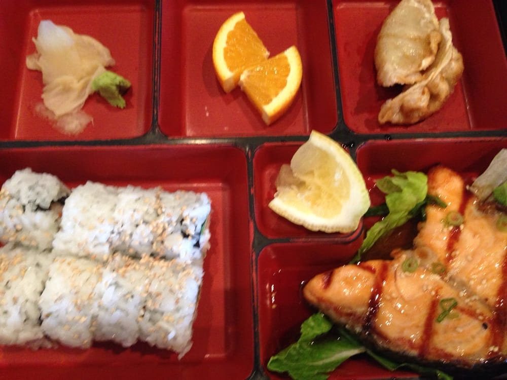 salmon lunch bento box yelp. Black Bedroom Furniture Sets. Home Design Ideas