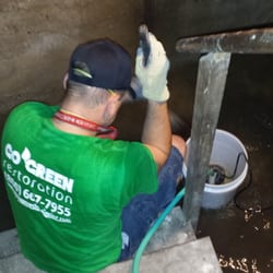 """Photo of Go Green Restoration - Los Angeles, CA, United States. Pump Out Water over 4"""" from Basement"""