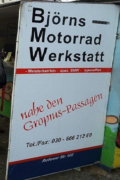 Björns Motorrad Werkstatt - Motorradhändler - Johannisthaler Chauss ...