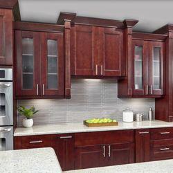 Photo Of Tops Kitchen Cabinet Granite Greenacres Fl United States Walnut