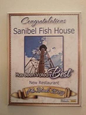 Voted best new restaurant 2013 yelp for Sanibel fish house