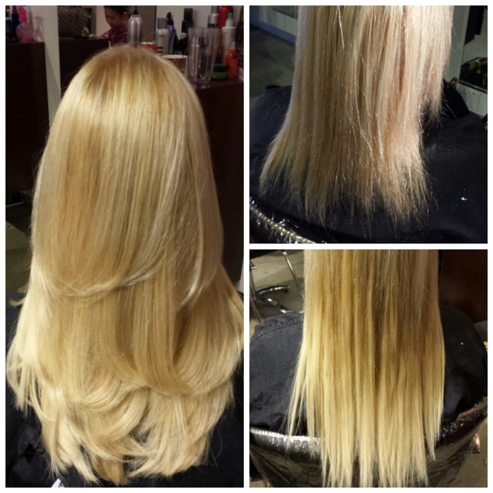Before And After Individual Keratin Hair Extensions And Hair Cut For