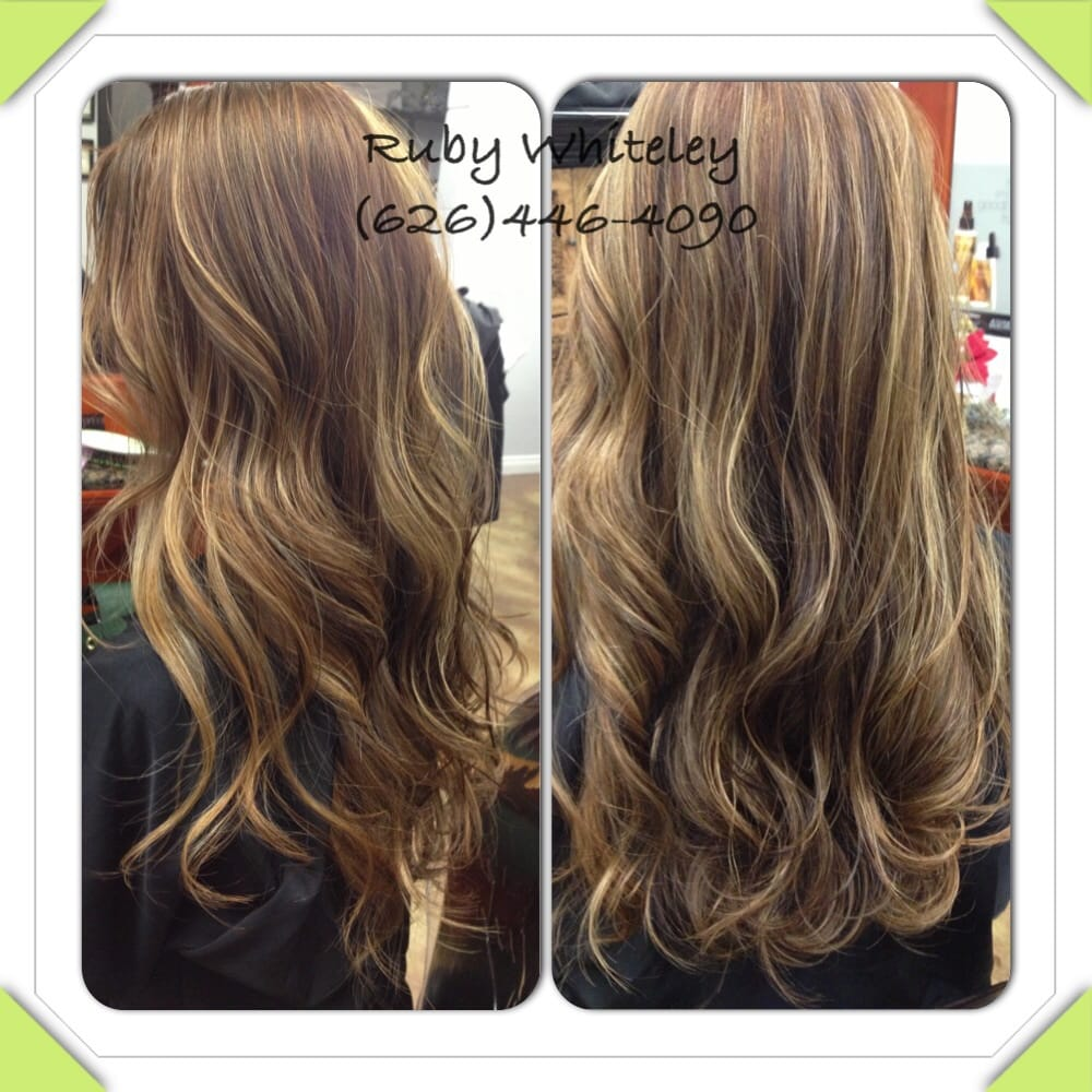 Dimensional Highlights Done With A Mix Of Traditional And Balayage