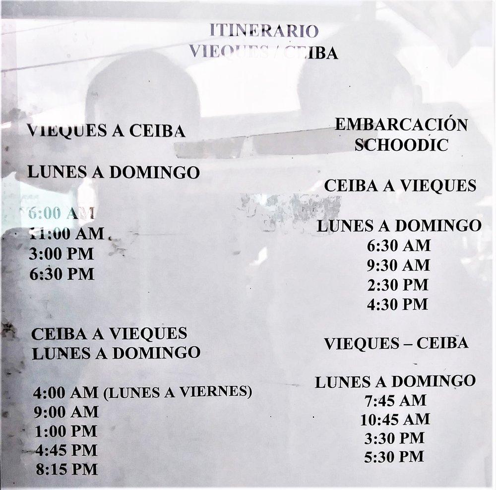 Ceiba Ferry: Marina Dr S/N, Roosevelt Roads, PR