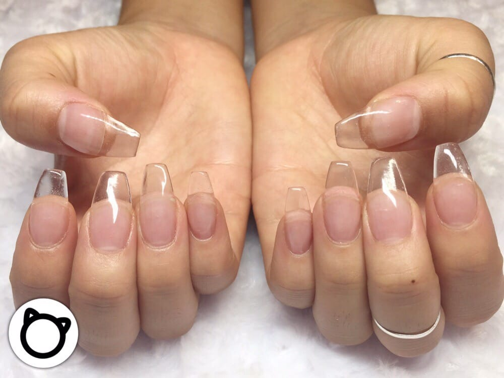 the fullest. sculptured acrylic nail extensions. no plastic tips ...