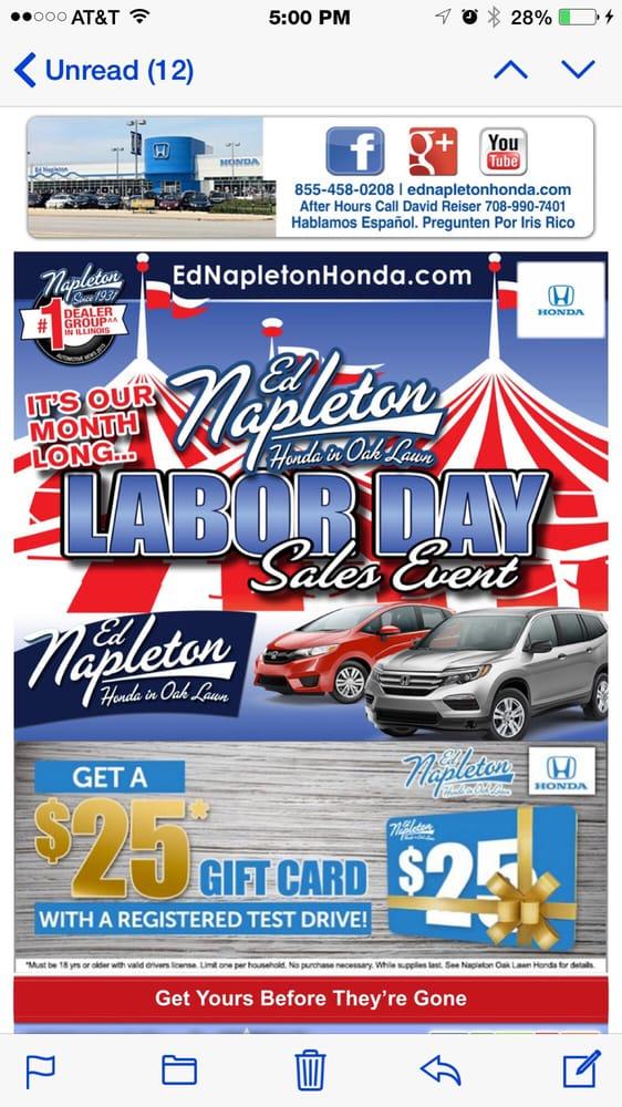 Ed Napleton Honda Service Department 13張相片及29篇評語 汽車零件