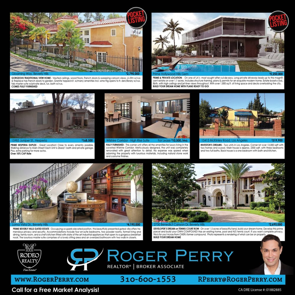 Roger Perry Rodeo Realty 11 Photos Real Estate