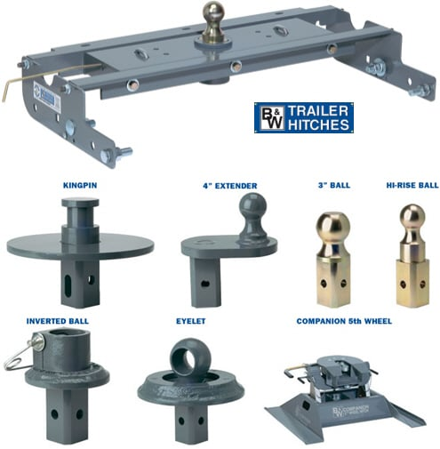 Fifth Wheel To Gooseneck Hitch >> B W Turnover Ball Gooseneck Hitch With Accessories And