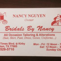 Bridals by nancy tailoring alterations 26 reviews bridal photo of bridals by nancy tailoring alterations houston tx united states reheart Images