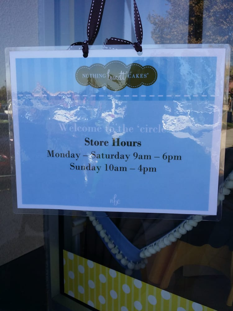 Nothing But Bundt Cakes Store Hours