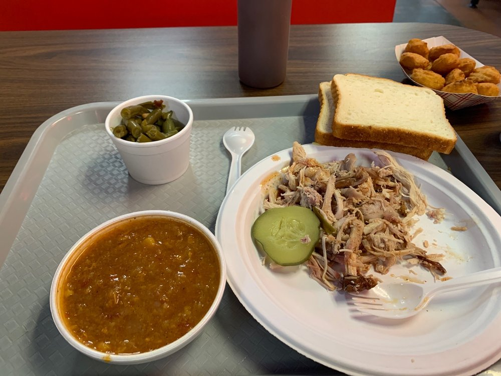 Food from Old Clinton Bar-B-Q
