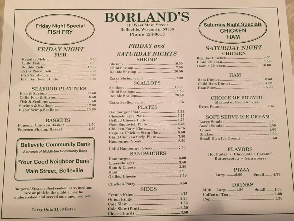Borland's Tavern: 119 W Main St, Belleville, WI