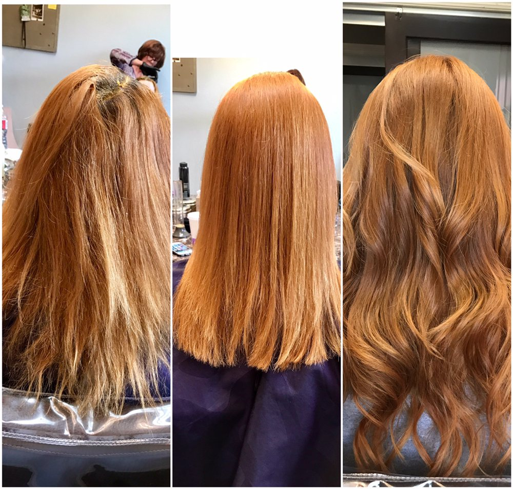 Before And After All In One Day Color Correction Keratin