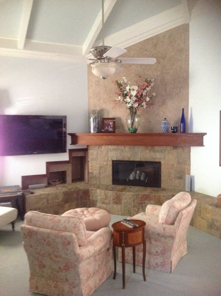 After Venetian Plaster with Fireplace restoration Yelp