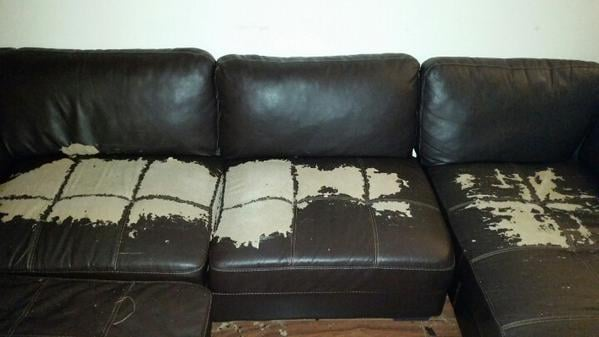 "Value City Furniture Aurora: A VCF ""Leather"" Couch. Was Told The Warranty ""covered"
