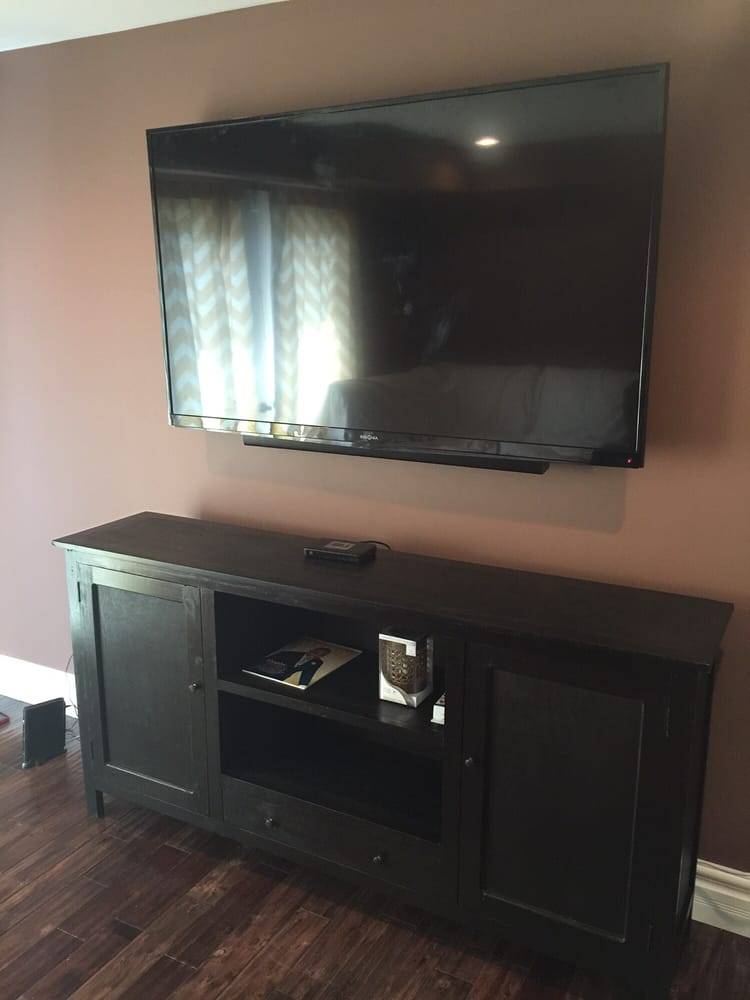TV Install, Sound Bar install, In-wall wire concealment, electrical ...