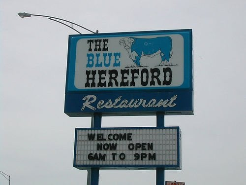 Blue Hereford: 809 Main St, Ford, KS