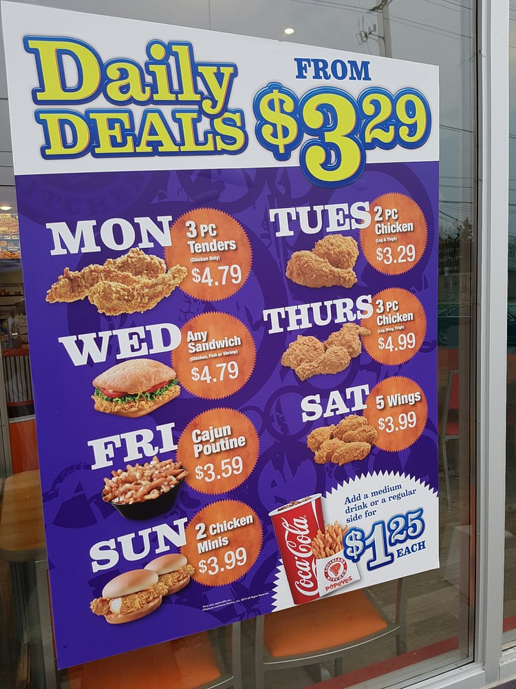 popeyes daily deals canada