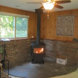 fireplace and chimney. Photo of Holy Smoke Stove Fireplace Chimney  Dryden NY United States Sweeps 296 Alberts