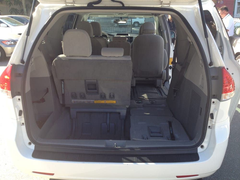 8 passenger toyota sienna cargo space yelp. Black Bedroom Furniture Sets. Home Design Ideas