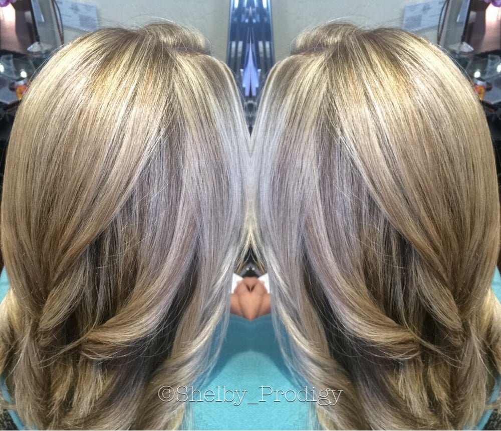 Highlights Lowlights Blonde Hair By Shelby At Prodigy Hairdressing