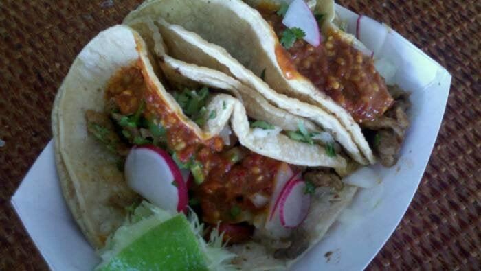 ... , FL, United States. Tacos al pastor...carne asada was better