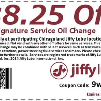 jiffy lube coupons woodstock il
