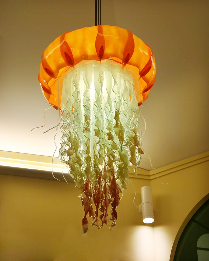 The bars jellyfish chandelier icon was designed and handmade by photo of jellyfish lounge capitola ca united states the bars jellyfish chandelier mozeypictures Choice Image