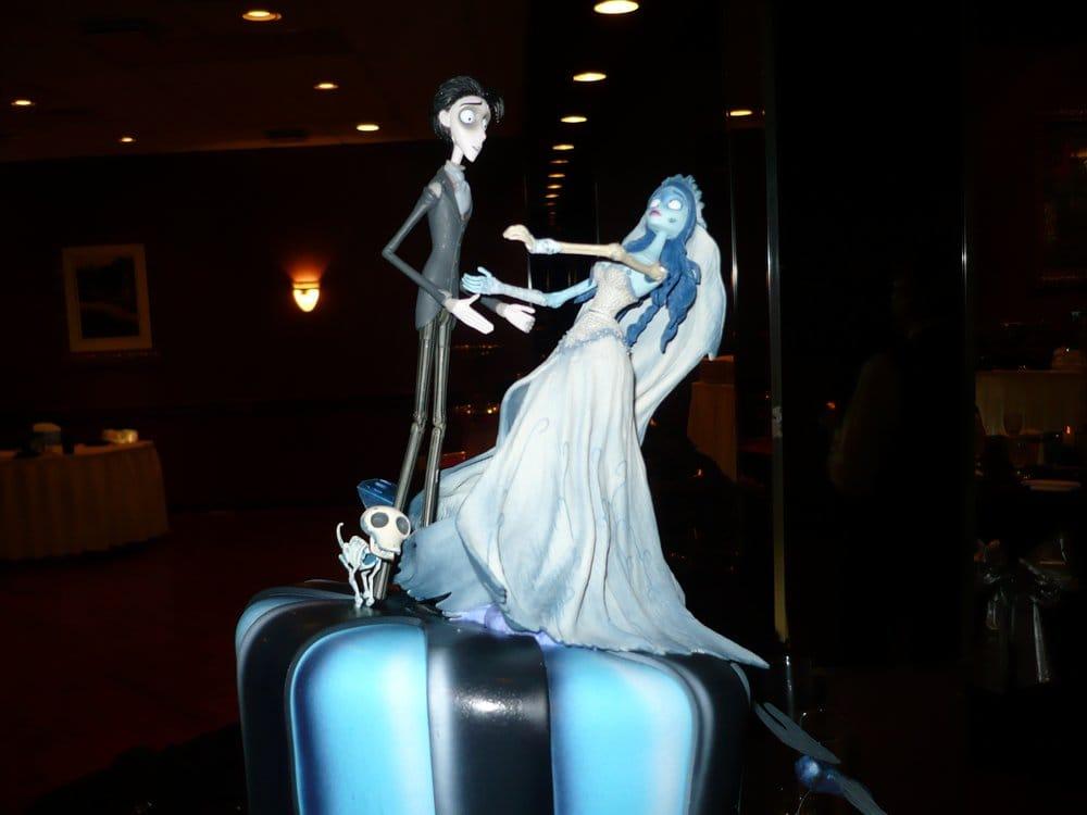 Tim Burton themed wedding cake - Yelp