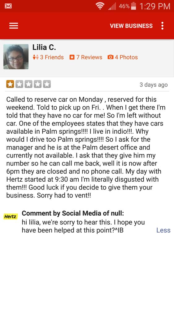 Hertz Rent A Car Indio Ca