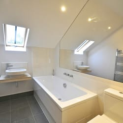 Bathroom Vanities Jericho Turnpike home beyond center floor & cabinet - closed - contractors - 770 e