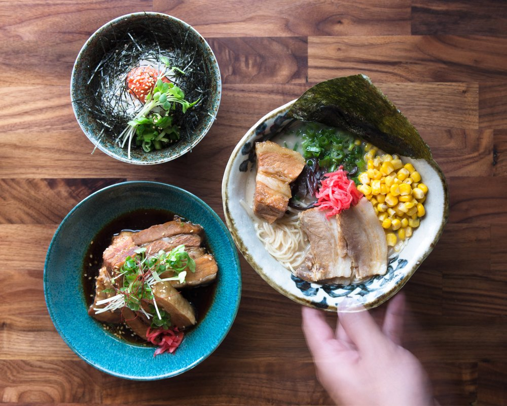 Food from Marufuku Ramen SF