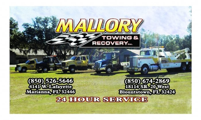 Mallory Towing & Recovery: 18329 Main St N, Blountstown, FL