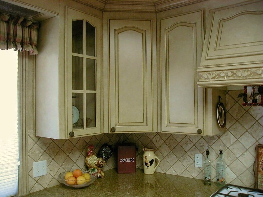 Old Oak cabinets painted and glazed - Yelp