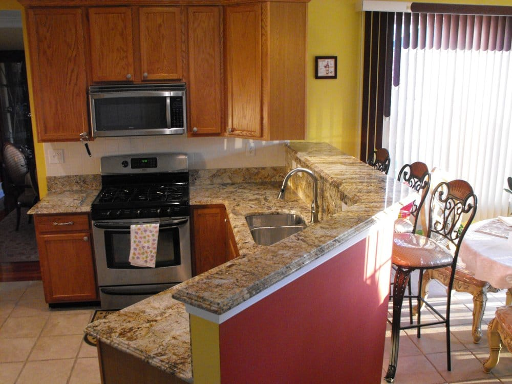 ... , PA, United States. Kitchen Counter tops with Full Bar in Granite