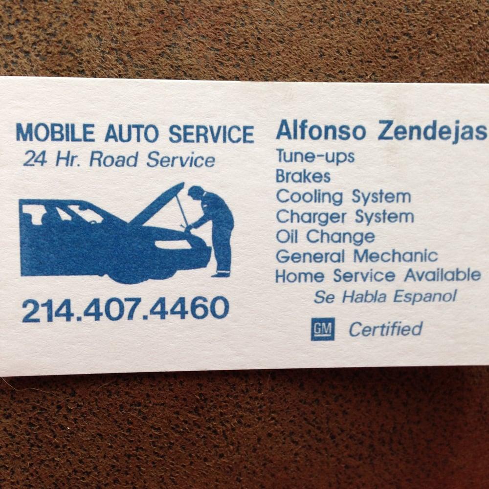Alfonso Zendejas Mobile Auto Service - Auto Repair - 213 Marrion Dr ...