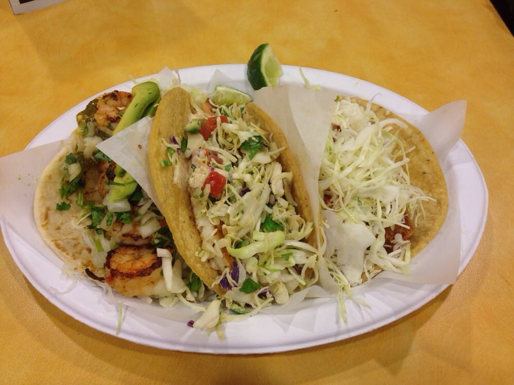 Coastal trio fish shrimp and tilapia taco yelp for Rubio s coastal grill the original fish taco