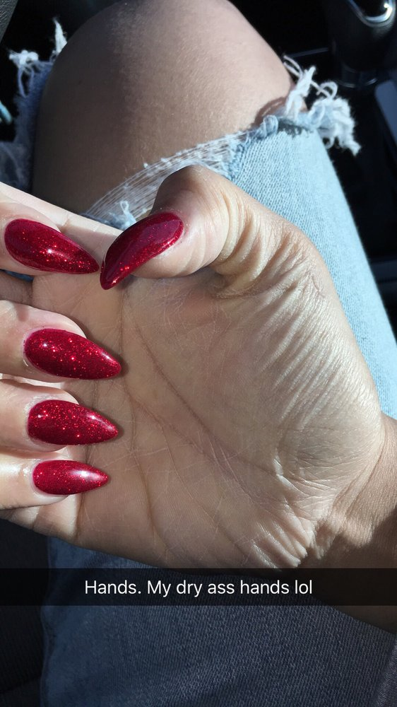 Christmas Stiletto Nails.This Was Done Around Christmas Time Stiletto Nails Nail