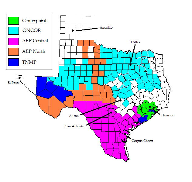 Texas Tdsp Servicing Map Yelp