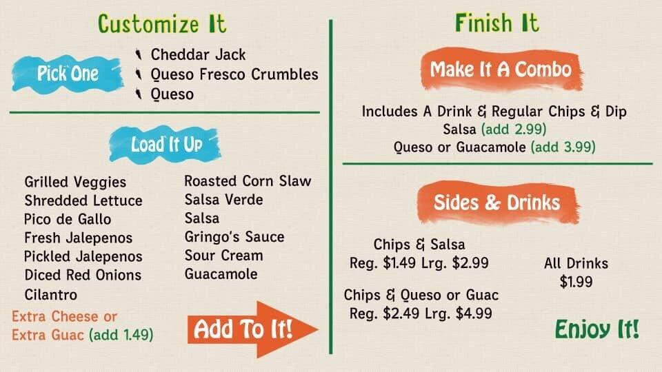 Gringo's Burritos: 702 Main St, Bandera, TX