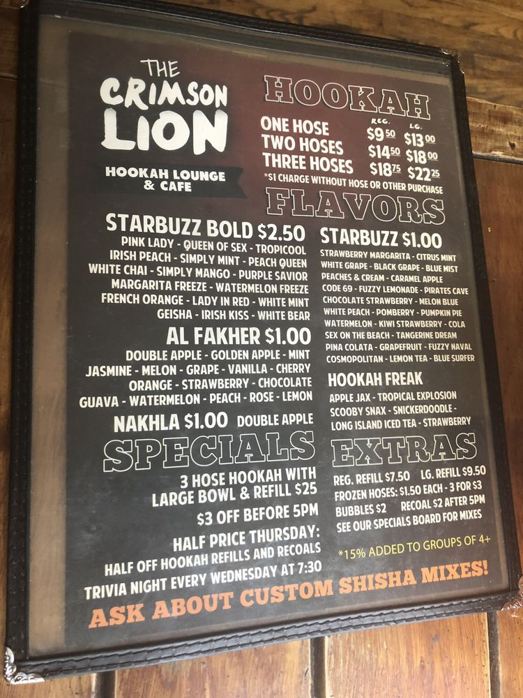 Social Spots from Crimson Lion Hookah Lounge