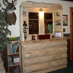 Photo Of Montana Custom Log Furniture   Troy, MT, United States. Log Dresser
